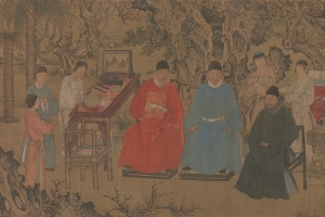 Elegant Gathering in the Apricot Garden (detail) - Metropolitan Museum of Art